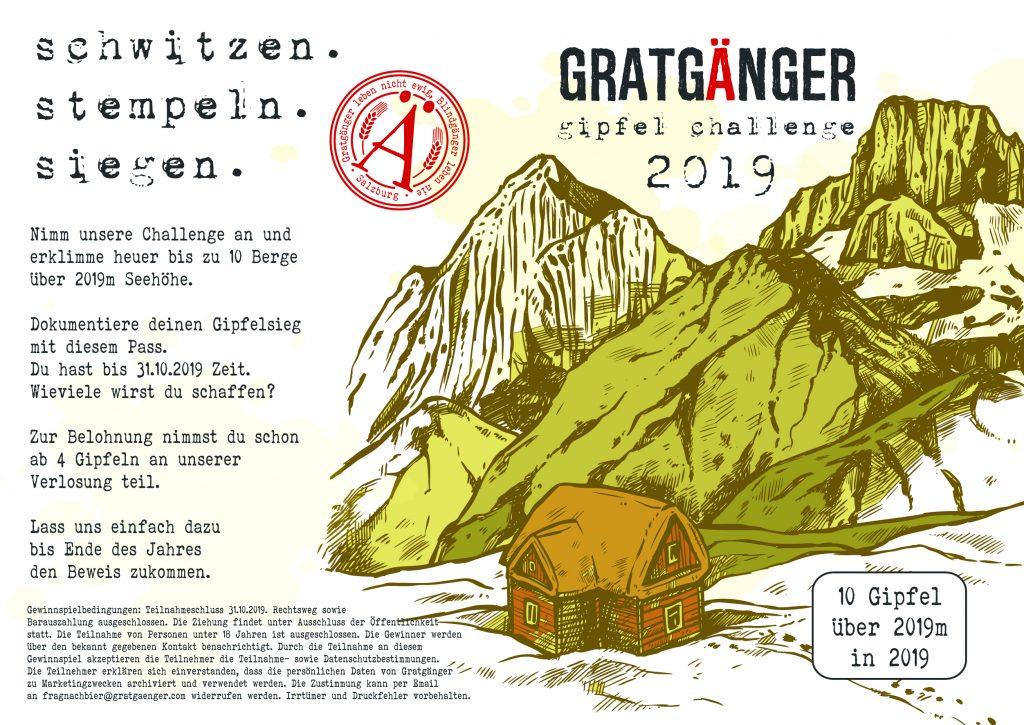 Gratgänger Gipfel Challenge 2019 - Die ultimative Herausforderung - sammle 10 Gipfelstempel bis 31.10. und gewinne tolle Preise